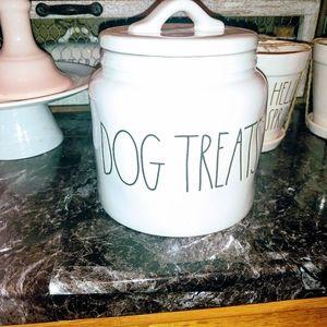 Rae Dunn Large Letter Dog Treats Chubby Canister